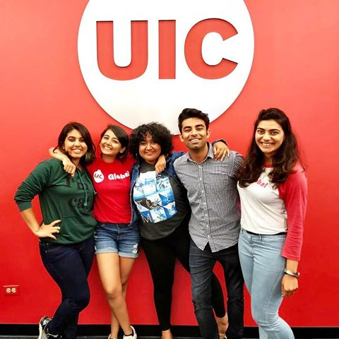 STUDENTS WITH UIC LOGO